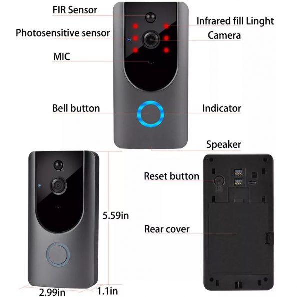 چشمی الکترونیکی درب SUPER SONIC